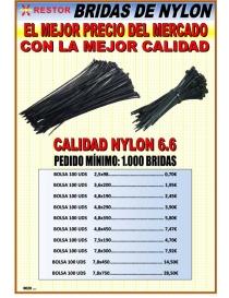 Brida nylon negra 7.8-180 mm bolsa 100 uds